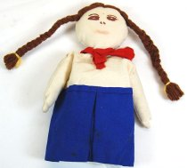 Image of 11524-284 - Puppet; Cloth; Girl; Campfire