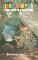 """Image of 11546-24 - Brochure; Boy Scouts; """"Scout Camping Rounds a Guy Out!"""""""