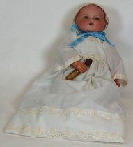 Image of 11556-1 - Doll; Bisque; Celluloid & Cloth; Baby; My Dream Baby; Arranbee