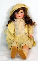 Image of 11556-6 - Doll; Composition & Cloth; Girl