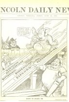 Image of 11557-10 - Cartoon; William Jennings Bryan; Lincoln Daily News
