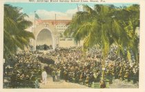 Image of 11557-4 - Postcard; William Jennings Bryan; Sunday School Class, Miami, FL