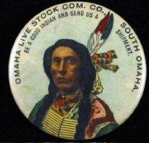 Image of 11571-51 - Button, Omaha Live Stock Com. Co., South Omaha