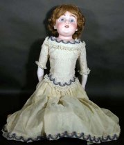 Image of 11626-2 - Doll, Bisque & Kid; Girl; Kestner