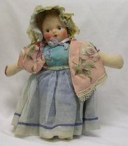 Image of 11626-16 - Doll; Cloth; Girl