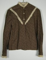 Image of 11640-115 - Blouse, Brown Floral