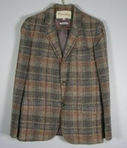 Image of 11640-116-(1) - Jacket, Gray and Pink Plaid