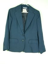 Image of 11640-135-(1) - Jacket, Navy Blue Linen, Talbots