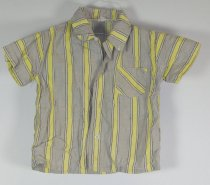 Image of 11640-440 - Shirt, Gray and Yellow Stripes, Boy's