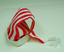 Image of 11681-42 - Clothes, Doll, Red and White Striped Cap