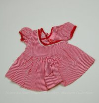 Image of 11681-43 - Clothes, Doll, Red and White Striped Dress