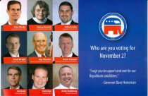 Image of 11683-54 - Card, Political, Republican Candidates, 2010
