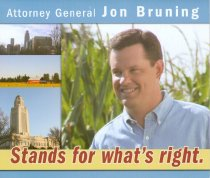 Image of 11683-56 - Brochure, Political, Jon Bruning, Attorney General