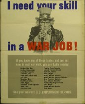 Image of 11804-8 - Poster, World War II, I Need Your Skill in a War Job