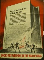 "Image of 11804-9 - Poster, World War II, ""Books Are Weapons in War of Ideas"""