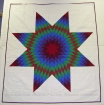 "Image of 11894-1 - Quilt, Morning Star,  ""Red Clouds Comtemporary Robe"""