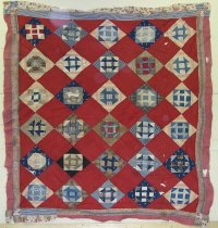 Image of 11935-13 - Top, Quilt, Churn Dash