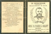 Image of 11940-1-(52) - Program from the funeral of Ulysses S. Grant, US Grant Memorial