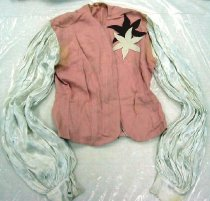 Image of 11971-1-(1) - Pink & White Blouse Worn by Trick Rider Tinkie Tower