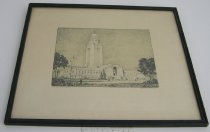 Image of 11980-2 - Framed Print of the Nebraska Capitol Buidling by Architectural Supervisor William L. Younkin