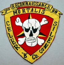 Image of 11994-6 - Patch of the Seal of the U.S. Marine Corps Third Reconnaissance Batallion