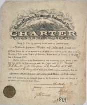 Image of 183P-1 - Certificate, Farmers State Alliance and Industrial Union, Charter for the Nebrska Chapter, Jan. 3, 1893
