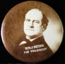 Image of 13000-18 - Button, Political; William Jennings Bryan