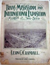 Image of 13000-3019 - Trans-Mississippi and International Exposition March and Two-Step by Leon C. Crandall