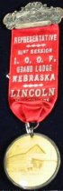 Image of 13000-3194 - Badge, Independent Order of Odd Fellows, Grand Lodge, Lincoln, Oct. 21, 1908