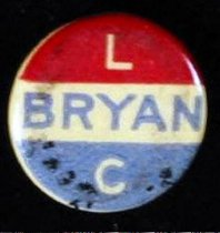 Image of 13000-33 - Pin, Political; William Jennings Bryan