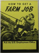 Image of 13000-2563 - Poster, World War Two, How to Get a Farm Job