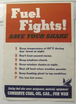 "Image of 13000-2564 - Poster, World War II, ""Fuel Fights!"""