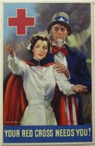 "Image of 13000-2567A - Poster,World War II, ""Your Red Cross Needs You!"""