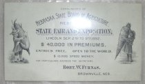 Image of 13000-3319 - Ticket, Nebraska State Fair and Exposition, 1892