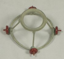 Image of 13000-3327 - Walker, Baby, Miniature; Red Wheels, Gray Frame