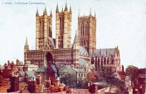 Image of 13000-3484 - Post card, Lincoln Cathedral