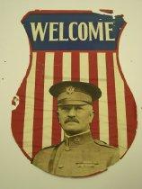"""Image of 13000-3563 - Poster, World War I, John J. Pershing, """"Welcome"""""""