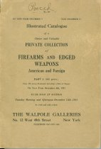 Image of 13000-4042 - Firearms and Edged Weapons December 9
