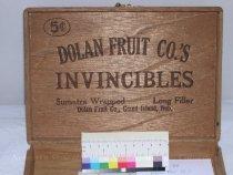 Image of 13053-85 - Box, Cigar, Dolan Fruit Co.'s Invincible, Grand Island, Nebraska