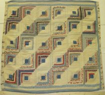 Image of 13056-1 - Quilt, Log Cabin, Straight Furrow
