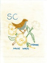 Image of 13062-75 - Quilt Block; State Flowers and Birds, South Carolina
