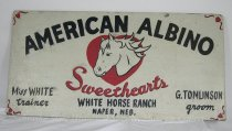 Image of 13063-23 - Sign, American Albino Sweethearts, White Horse Ranch