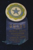 Image of 13066-16 - Badge, American Legion Auxiliary Convention Guest, 1927