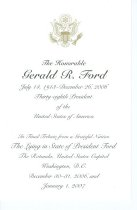 Image of 13074-9 - Funeral Tribute, President Gerald R. Ford, U.S. Capitol Rotunda