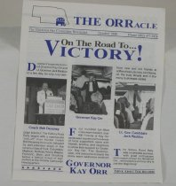 Image of 13078-33 - Newsletter, The Orracle, Governor Kay Orr