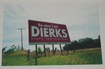 """Image of 13080-7 - Print, Photographic, Color Copy on Paper, of Billboard """"Re-elect Cap Dierks State Legislature"""""""