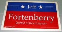 Image of 13084-8 - Sign, Political, Jeff Fortenberry for Congress
