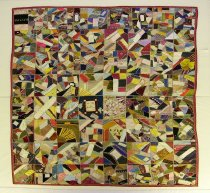 Image of 13088-1 - Quilt; Crazy