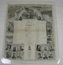 Image of 13098-1 - Poster, Spanish-American War, First Nebraska Regiment, Company D