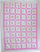 Image of 13112-2 - Quilt, State Birds and Flowers